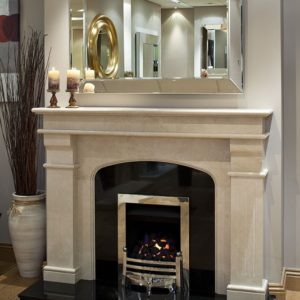 monaco marble fireplace, made to measure fireplace, marble fireplace, custom made fireplace, solid fuel fireplace, gas fireplace, electric fireplace, roma beige marble fireplace, crema marfil marble fireplace, elegant fireplace