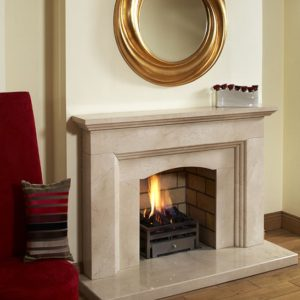 lisbon marble fireplace, made to measure fireplace, marble fireplace, custom made fireplace, solid fuel fireplace, gas fireplace, electric fireplace, roma beige marble fireplace, crema marfil marble fireplace, elegant fireplace