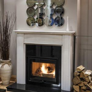 amber stone fireplace, limestone fireplace, Turkish limestone fireplace, solid fuel fireplace, woodburner fireplace, electric fireplace, gas fireplace, electric fireplace, custom made fireplace, made to measure fireplace, sleek fireplace