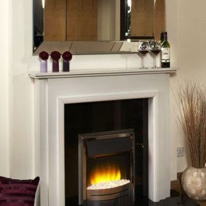suzie marble fireplace, made to measure fireplace, marble fireplace, custom made fireplace, solid fuel fireplace, gas fireplace, electric fireplace, roma white marble fireplace, elegant fireplace, small fireplace