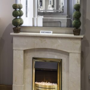santander marble fireplace, made to measure fireplace, marble fireplace, custom made fireplace, solid fuel fireplace, gas fireplace, electric fireplace, roma beige marble fireplace, crema marfil marble fireplace, stylish fireplace, small fireplace