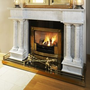 double pillar adams marble fireplace, solid fuel fireplace, woodburner fireplace, electric fireplace, gas fireplace, custom made fireplace, made to measure fireplace, timeless fireplace, georgian style fireplace, period fireplace