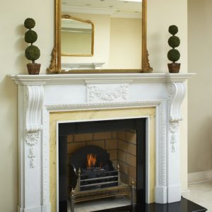 kensington honed sevec marble fireplace, solid fuel fireplace, woodburner fireplace, electric fireplace, gas fireplace, custom made fireplace, made to measure fireplace, timeless fireplace, victorian style fireplace