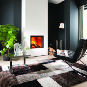 heat pure 60 woodburner, kal fire, kal fireplace, retracting glass door, retractable glass door, highly efficient fire, built in fire, insert fire, frameless fire, contemporary woodburner