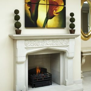 jacobean stone fireplace, sandstone fireplace, solid fuel fireplace, woodburner fireplace, electric fireplace, gas fireplace, custom made fireplace, made to measure fireplace, timeless fireplace, elizabethan fireplace