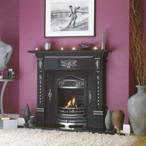 new ferns cast iron fireplace, cast iron fireplace, polished cast iron fireplace, small fireplace, black fireplace, electric fire fireplace, gas fire fireplace, open fire fireplace, compact fireplace, period fireplace